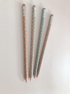 色鉛筆に名前を書く場所